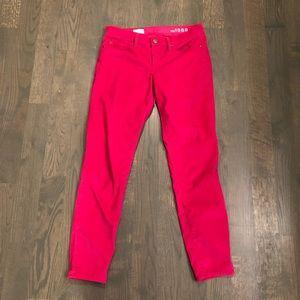 GAP Hot Pink Corduroy Legging Jeans, Ankle Length